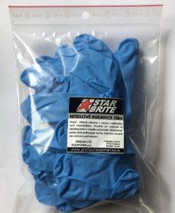 modre nitrilove rukavice